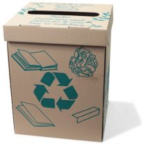 Corbeille à papier écologique en carton
