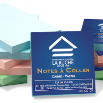 note coller pastel